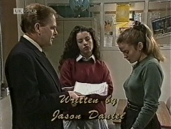 Vince Roland, Louise Barker, Julie Robinson in Neighbours Episode 1945