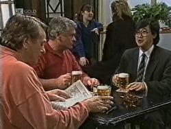 Doug Willis, Lou Carpenter, Raymond Lim in Neighbours Episode 1948