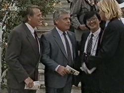 Doug Willis, Lou Carpenter, Raymond Lim, Brad Willis in Neighbours Episode 1948