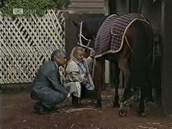 Lou Carpenter, Lauren Carpenter, Chukka Mental in Neighbours Episode 1948