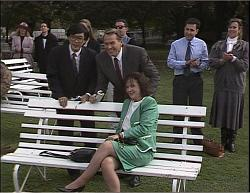 Raymond Lim, Doug Willis, Pam Willis in Neighbours Episode 1949