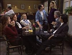 Beth Brennan, Gaby Willis, Lauren Turner, Stephen Gottlieb, Phoebe Bright, Lou Carpenter, Raymond Lim in Neighbours Episode 1949
