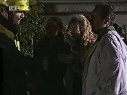 Fire Chief, Gaby Willis, Annalise Hartman, Philip Martin in Neighbours Episode 1950
