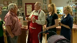 Lou Carpenter, Harold Bishop, Janelle Timmins, Janae Timmins in Neighbours Episode 5217