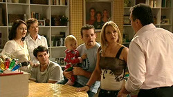 Rosie Cammeniti, Susan Kennedy, Frazer Yeats, Charlie Hoyland, Toadie Rebecchi, Steph Scully, Karl Kennedy in Neighbours Episode 5224