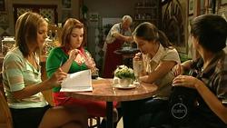 Rachel Kinski, Bree Timmins, Lou Carpenter, Louise Carpenter (Lolly), Zeke Kinski in Neighbours Episode 5225