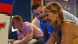 Boyd Hoyland, Toadie Rebecchi, Steph Scully in Neighbours Episode 5235