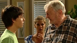 Zeke Kinski, Rachel Kinski, Tom Kennedy in Neighbours Episode 5246