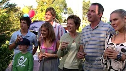 Zeke Kinski, Mickey Gannon, Ned Parker, Rachel Kinski, Susan Kennedy, Karl Kennedy, Pepper Steiger in Neighbours Episode 5255