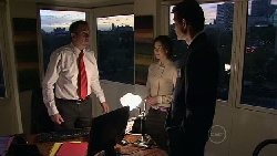 Karl Kennedy, Julia Sanders, Christian Johnson in Neighbours Episode 5284
