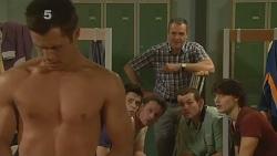 Mark Brennan, Zeke Kinski, Lucas Fitzgerald, Karl Kennedy, Toadie Rebecchi, Declan Napier in Neighbours Episode 6091