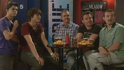 Zeke Kinski, Declan Napier, Karl Kennedy, Lucas Fitzgerald, Toadie Rebecchi in Neighbours Episode 6091