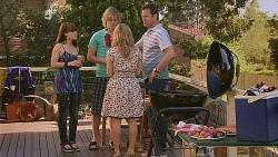 Summer Hoyland, Andrew Robinson, Natasha Williams, Michael Williams in Neighbours Episode 6091