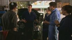 Lucas Fitzgerald, Chris Pappas, Summer Hoyland in Neighbours Episode 6094