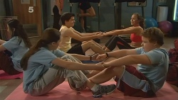 Sophie Ramsay, Zeke Kinski, Jade Mitchell, Callum Jones in Neighbours Episode 6095