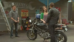 Lucas Fitzgerald, Kate Ramsay, Mark Brennan in Neighbours Episode 6096