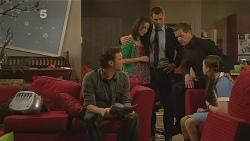 Lucas Fitzgerald, Kate Ramsay, Mark Brennan, Paul Robinson, Sophie Ramsay in Neighbours Episode 6096