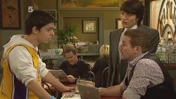 Zeke Kinski, Paul Robinson, Declan Napier, Toadie Rebecchi in Neighbours Episode 6096