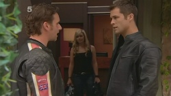 Lucas Fitzgerald, Senior Constable Megan Phillips, Mark Brennan in Neighbours Episode 6097