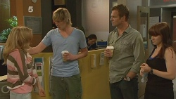 Natasha Williams, Andrew Robinson, Michael Williams, Summer Hoyland in Neighbours Episode 6100