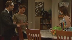 Mark Brennan, Lucas Fitzgerald, Kate Ramsay in Neighbours Episode 6103