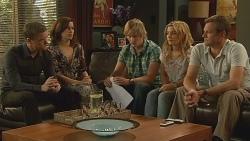 Paul Robinson, Rebecca Napier, Andrew Robinson, Natasha Williams, Michael Williams in Neighbours Episode 6104