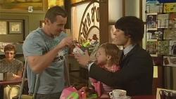 Toadie Rebecchi, India Napier, Declan Napier in Neighbours Episode 6104