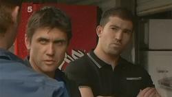 Lucas Fitzgerald, Garland Cole, Vince Villante in Neighbours Episode 6108