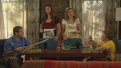 Toadie Rebecchi, Jade Mitchell, Sonya Mitchell, Callum Jones in Neighbours Episode 6110