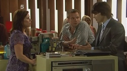 Rebecca Napier, Michael Williams, Declan Napier in Neighbours Episode 6113