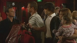 Paul Robinson, Michael Williams, Declan Napier, Rebecca Napier, India Napier in Neighbours Episode 6114