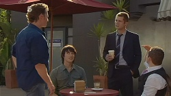 Lucas Fitzgerald, Declan Napier, Mark Brennan, Toadie Rebecchi in Neighbours Episode 6114