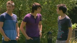 Mark Brennan, Declan Napier, Zeke Kinski in Neighbours Episode 6115