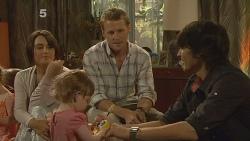 Carmella Cammeniti, Chloe Cammeniti, Oliver Barnes, Declan Napier in Neighbours Episode 6116