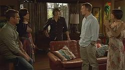Michael Williams, Rebecca Napier, Declan Napier, Oliver Barnes, Carmella Cammeniti in Neighbours Episode 6117