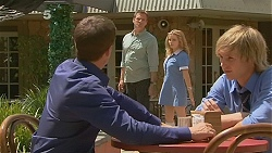 Paul Robinson, Michael Williams, Natasha Williams, Andrew Robinson in Neighbours Episode 6129