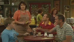 Callum Jones, Lyn Scully, Toadie Rebecchi, Karl Kennedy in Neighbours Episode 6130