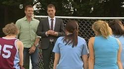Michael Williams, Mark Brennan, Summer Hoyland, Natasha Williams in Neighbours Episode 6135