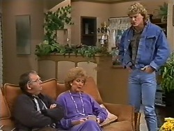 Harold Bishop, Madge Mitchell, Henry Mitchell in Neighbours Episode 0503