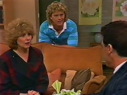 Madge Bishop, Henry Ramsay, Paul Robinson in Neighbours Episode 0506