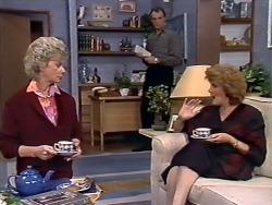 Helen Daniels, Jim Robinson, Madge Bishop in Neighbours Episode 0507