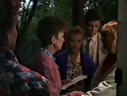 Nell Mangel, Daphne Clarke, Des Clarke, Jane Harris in Neighbours Episode 0507
