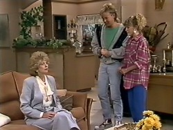 Madge Bishop, Scott Robinson, Charlene Mitchell in Neighbours Episode 0509