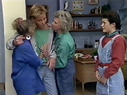 Charlene Mitchell, Scott Robinson, Helen Daniels, Lucy Robinson in Neighbours Episode 0510