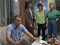 Jim Robinson, Paul Robinson, Gail Robinson, Helen Daniels in Neighbours Episode 0510