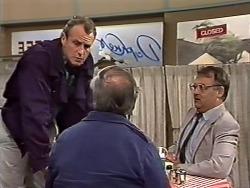 Jim Robinson, Rob Lewis, Harold Bishop in Neighbours Episode 0510