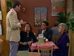 Des Clarke, Gail Lewis, Paul Robinson, Helen Daniels in Neighbours Episode 0511
