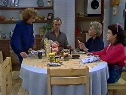 Madge Bishop, Jim Robinson, Helen Daniels, Lucy Robinson in Neighbours Episode 0512