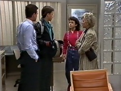 Paul Robinson, Mike Young, Lucy Robinson, Helen Daniels in Neighbours Episode 0512