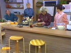 Jim Robinson, Jane Harris, Helen Daniels, Lucy Robinson in Neighbours Episode 0556